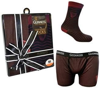 Guinness Black & Red Boxer And Socks Gift Set