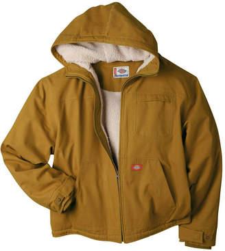Dickies Sanded Duck Sherpa-Lined Hooded Work Jacket