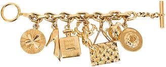 One Kings Lane Vintage 1970s Chanel Icons Charm Bracelet - Vintage Lux