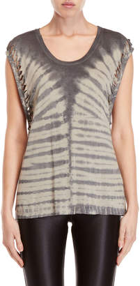 Religion Tie-Dye Beaded Tank Top