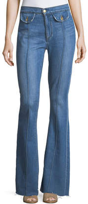 Roxy Acynetic High-Rise Flared-Leg Jeans