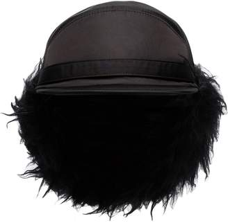 Prada faux fur-lined nylon trapper hat