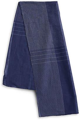 BRUUN AND STENGADE Striped Cotton-Blend Scarf