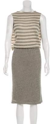 L'Agence Sleeveless Knit Mini Dress