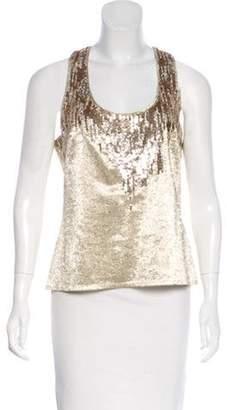 Christian Dior Sequined Top Metallic Sequined Top