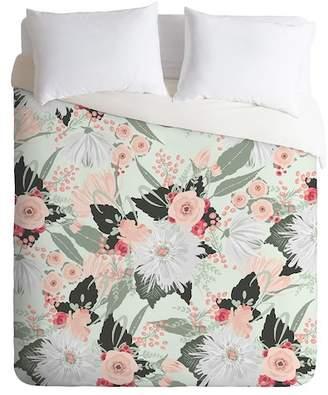 Deny Designs Iveta Abolina Carmella Queen Duvet Cover - Green
