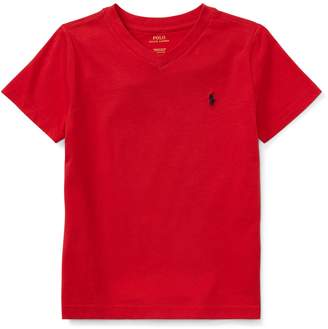 Ralph Lauren Childrenswear Little Boy's Jersey V-Neck Cotton Tee