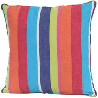 Camilla And Marc Homescapes Cotton Multi Coloured Stripe Cushion Cover, 45 X 45 Cm