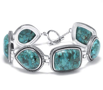 FINE JEWELRY Enhanced Turquoise Sterling Silver Bracelet