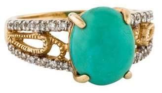 Ring 14K Turquoise & Diamond