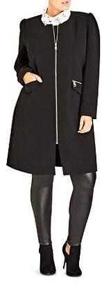 City Chic Plus Simple Elegance Coat