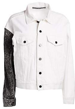 Alexander Wang Women's Two-Tone Denim Jacket