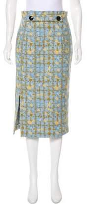Christian Dior Wool-Blend Jacquard Skirt