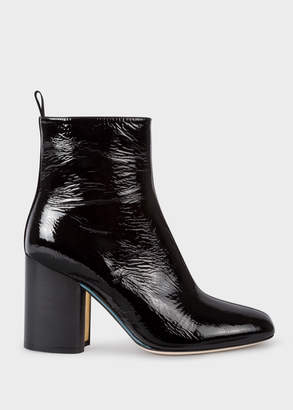 Paul Smith Women's Black Patent Leather 'Egan' Boots