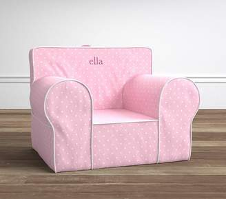 Pottery Barn Kids Light Pink Pin Dot Oversized Anywhere Chair® Slipcover Only