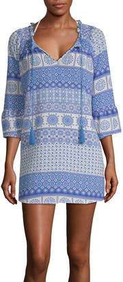 Porto Cruz Crepe Swimsuit Cover-Up Dress