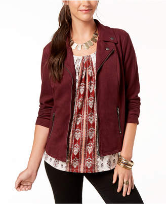 Style&Co. Style & Co Faux-Suede Moto Jacket