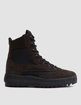 Yeezy Mens Suede Military Boot in Oil