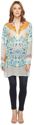 Johnny Was - Ellyonora 1/2 Placket Tunic Women's Blouse $255 thestylecure.com