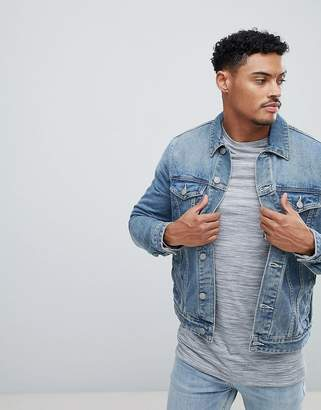 ASOS Denim Jacket In Mid Blue Wash $56 thestylecure.com
