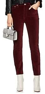 RE/DONE Women's Velvet High Rise Crop Jeans - Wine