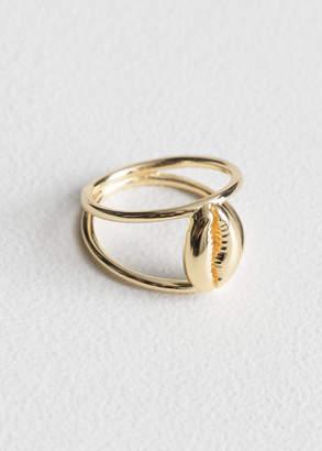 Puka Duo Band Shell Ring