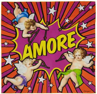 Dolce & Gabbana Multicolor Silk Amore Scarf