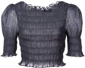 Jill Stuart gathered cropped blouse