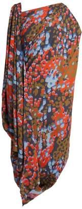Vivienne Westwood Fetzen Camouflage Print Toga Dress - Womens - Blue Multi