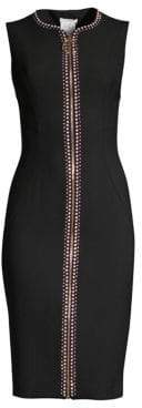 Versace Jewel Stud Zip Bodycon Dress