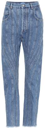 Thierry Mugler Paneled high-rise jeans