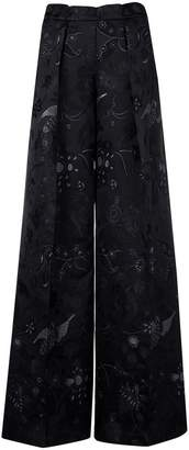 Christian Pellizzari floral embroidered trousers