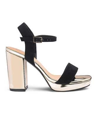 ce6ec3be88cd Silentnight Mia Platform Block Heel Extra Wide Fit