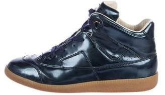 Maison Margiela Patent Leather Replica High-Top Sneakers