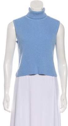 St. John Sport Cropped Turtleneck Sweater