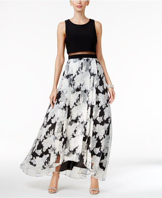Betsy & Adam Illusion Popover Floral-Print Gown $269 thestylecure.com
