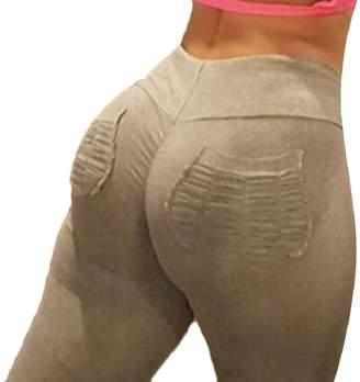 Xswsy XG-CA Workout Gym Skinny Leggings Women Ruched Butt Lift High Waist Yoga Pants 1 XS