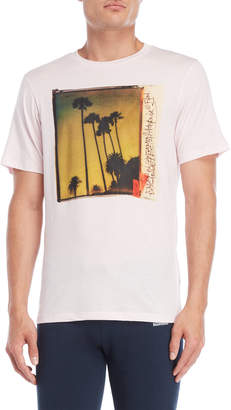 Franklin & Marshall Powder Pink Palm Photo Tee