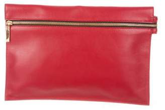 Victoria Beckham Moonshine Leather Clutch