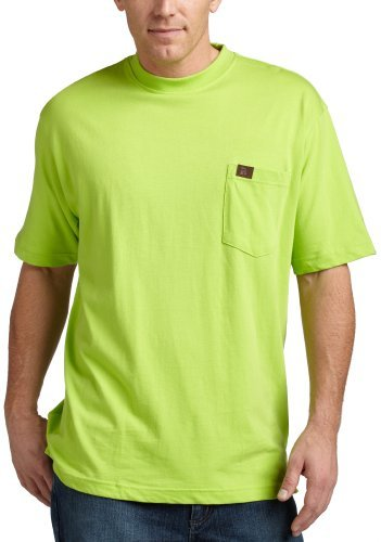 Wrangler RIGGS WORKWEAR by Men's Pocket T-Shirt, Safety Green, Large