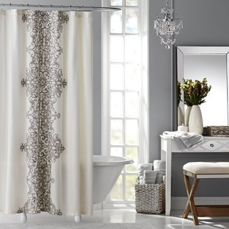 +Hotel by K-bros&Co HOTEL STYLE Hotel Style Manchester Embroidered Fabric Shower Curtain