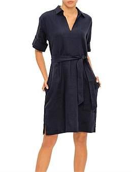 David Jones Linen Collared Tunic Dress