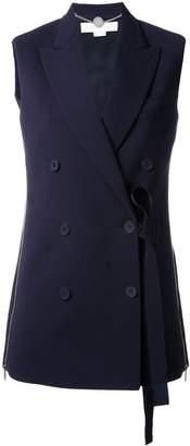 Stella McCartney off-centre sleeveless jacket