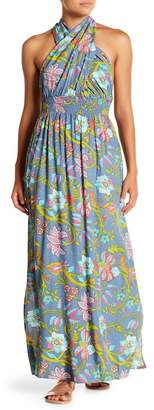 Tiare Hawaii Floral Halter Maxi Dress