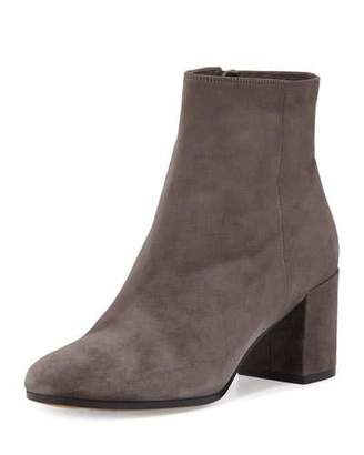 Vince Blakely Suede Ankle Boot, Steel $395 thestylecure.com