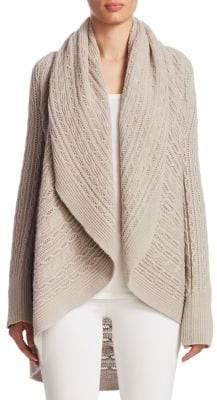 TSE x SFA Cashmere Cable-Knit Cardigan