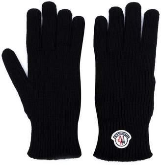 Moncler logo plaque gloves
