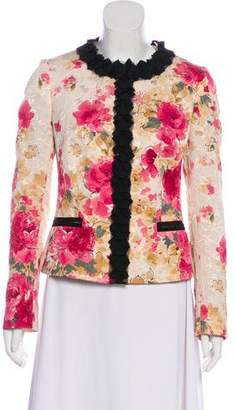 Dolce & Gabbana Floral Long Sleeve Jacket