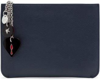 Christian Louboutin Loubicute dark blue pouch