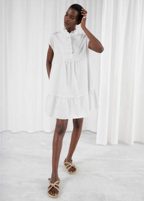 And other stories Ruffle Bib Shirt Dress